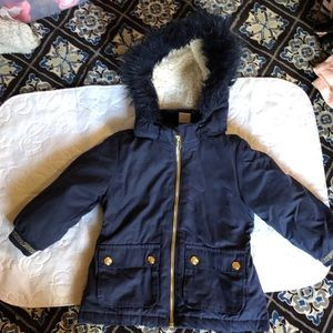 H&M Toddler Girl Padded Coat with Removable Hood